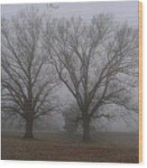 Fog On The Yorktown Battlefield Wood Print