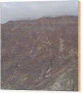 Fog Over The Hill Wood Print