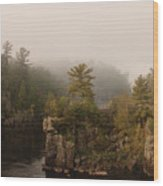 Fog Over The Saint Croix Wood Print