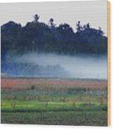 Fog Rolls In Wood Print