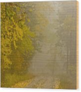 Foggy Autumn Morn Wood Print