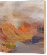 Foggy Autumnal Dream Wood Print
