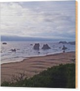 Foggy Coast Wood Print