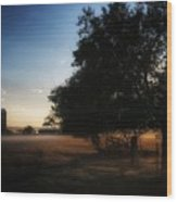Foggy Country Morning  Wood Print