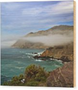 Foggy Day At Big Sur Wood Print