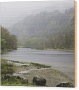 Foggy Day At Loch Lubnaig Wood Print