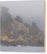 Foggy Day At Point Lobos Wood Print