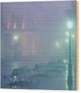 Foggy French Quarter Wood Print