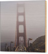 Foggy Golden Gate Wood Print