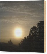 Foggy June Sunrise Wood Print
