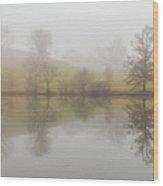 Foggy Lagoon Reflection #1 Wood Print