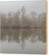 Foggy Lagoon Reflection #5 Wood Print