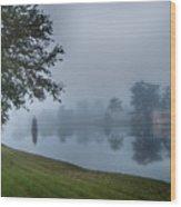 Foggy Morning In Alva Florida Wood Print