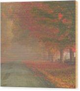 Foggy Morning On Cloudland Road Wood Print
