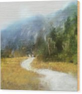 Foggy Morning On Mount Mansfield - 2014 Wood Print