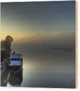 Foggy Morning On The James River Wood Print