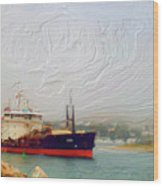 Foggy Morro Bay Wood Print