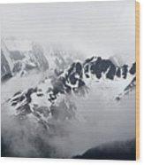 Foggy Mountains Wood Print