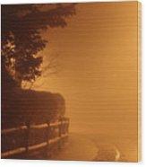 Foggy Night In White Plains Ny 2006 04 Wood Print