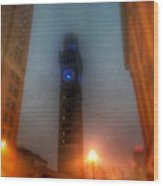 Foggy Night - The Bromo Seltzer Tower Wood Print