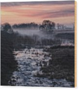 Foggy Sunrise At Chasewater Wood Print