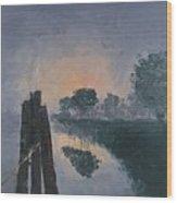 Foggy Sunrise At The Locks Wood Print
