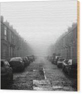 Foggy Terrace Wood Print