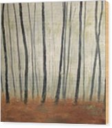Foggy Trees Wood Print