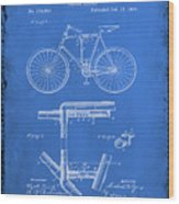 Folding Bycycle Patent Drawing 1d Wood Print