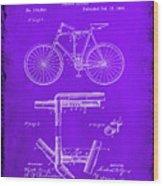Folding Bycycle Patent Drawing 1e Wood Print