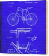 Folding Bycycle Patent Drawing 1h Wood Print
