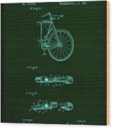 Folding Bycycle Patent Drawing 2a Wood Print