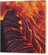 Folding Lava Wood Print