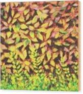 Foliage 1 Wood Print