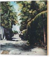 Foliage Wood Print