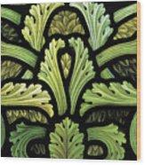 Foliage Pattern Wood Print