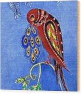 Folk Art Bird Wood Print