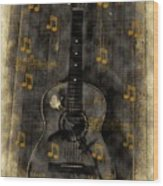 Folk Guitar Wood Print