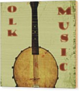 Folk Music Wood Print