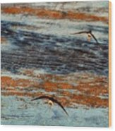 Follow Me To The Sea Wood Print
