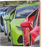 Follow That Lamborghini Wood Print