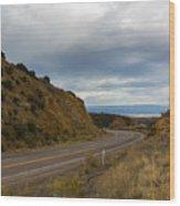 Follow The Winding Road Wood Print