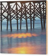 Folly Beach Abstract Wood Print