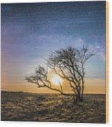 Folly Beach Milky Way Panorama Wood Print