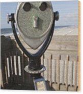 Folly Beach Pay Binoculars Wood Print