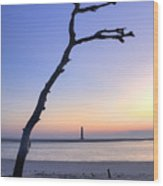 Folly Beach Sunrise Over Morris Island Wood Print