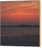 Folly Beach Sunset Wood Print