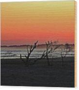 Folly Beach Sunset Wood Print