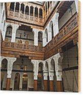 Fondouk El-nejjarine Built Wood Print