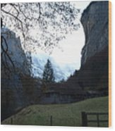 Fondue Valley Wood Print